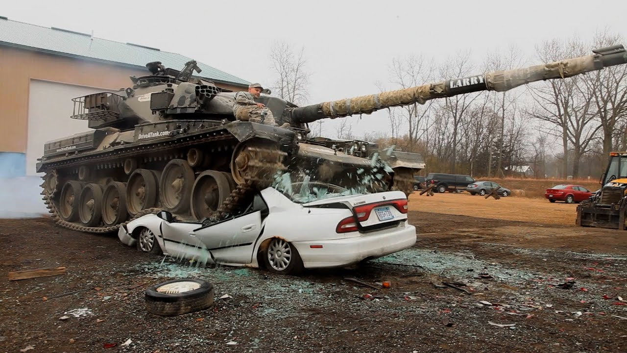 Military Theme Park Lets You Drive A Tank Crush Cars And Shoot - Cool cars with guns