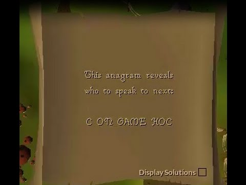 c on game hoc OSRS anagram Clue