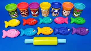 Learn Colors with Colored Fish out of Play Doh | Making Animals | Learn Numbers | Video for kids