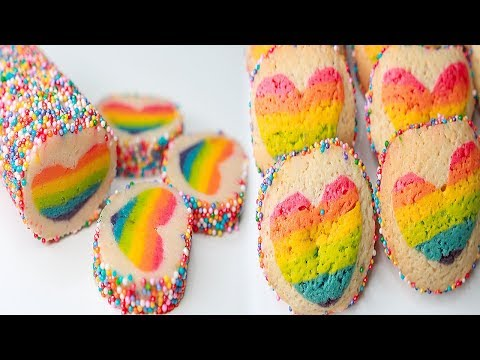 Rainbow Heart Cookie | Eggless & Without Oven | Valentine Day Special Recipe | Yummy