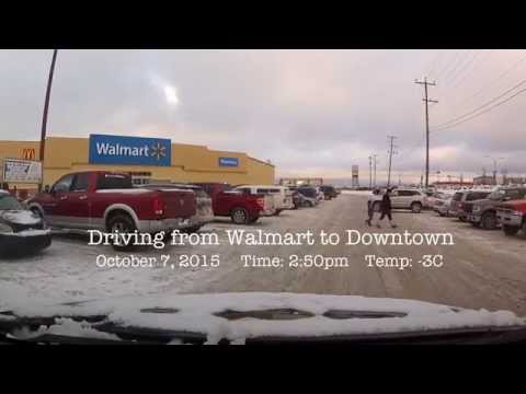Yellowknife NT - October 7, 2015 - Driving from Walmart to Downtown