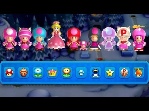 All Toadette Power-Ups in New Super Mario Bros. U Deluxe