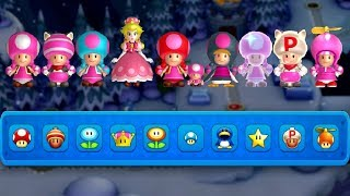 All Toadette Power-Ups in New Super Mario Bros. U Deluxe