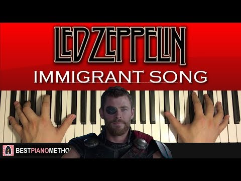 HOW TO PLAY - Led Zeppelin - Immigrant Song (Piano Tutorial Lesson)