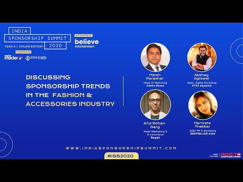Sponsorship trends in the Fashion & Accessories Industry - India Sponsorship Summit 2020