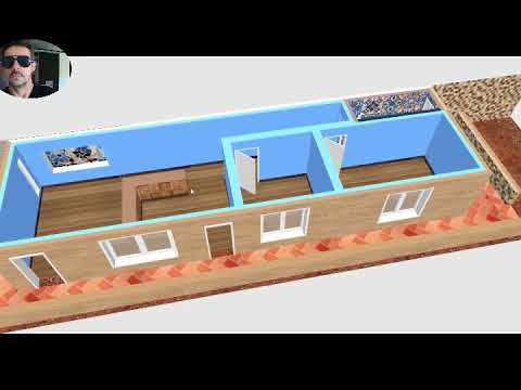 Planta de casa 4 5x15 youtube for Casa minimalista 4 5x15