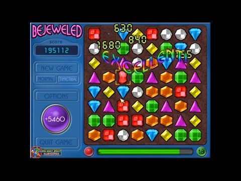 Bejeweled v1.87 (PC) - Timetrial: 248,550, Level 19 [1080p60]