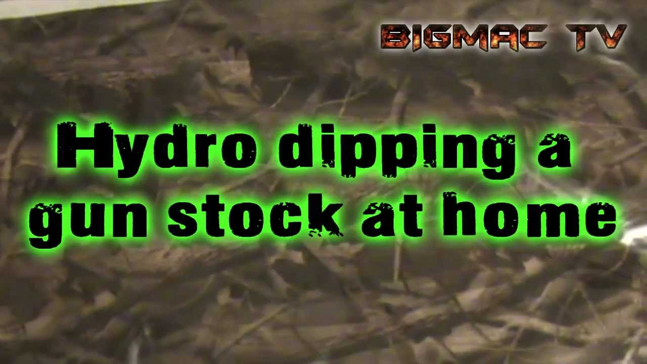 Hydro dipping a gun stock at home. - YouTube