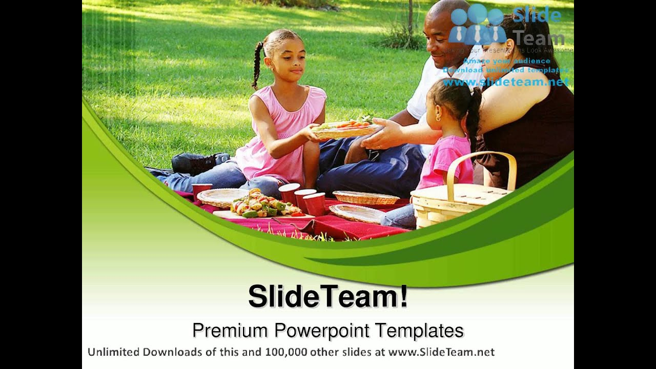 Picnic In The Park Family PowerPoint Templates Themes And Backgrounds ppt  themes