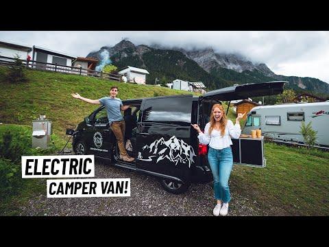 Full Tour of Our COMPLETELY ELECTRIC Camper Van! | European Road Trip Begins!