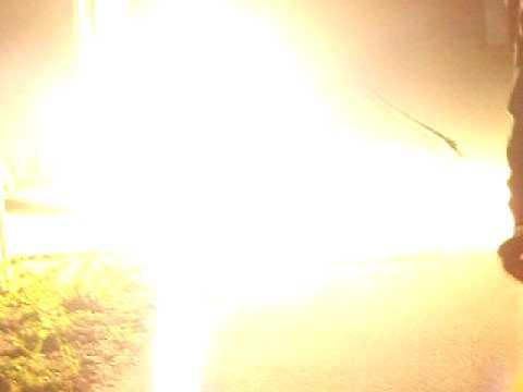 Small thermite detonation on a public transformer