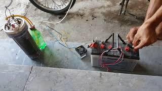 xe máy chạy bằng nước lã(tách khí h2)