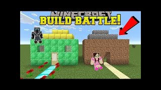 PopularMMOs Pat and Jen Minecraft: NOOB VS PRO!!! - BUILD BATTLE WITH NORMAL BLOCKS!