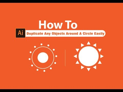 How To Duplicate Any Objects Around A Circle Easily | Adobe Illustrator Af-somali