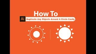 How To Duplicate Any Objects Around A Circle Easily   adobe illustrator af-somali