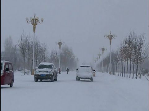 Snowfalls Blanket northwest China City