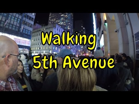 ⁴ᴷ Walking 5th Avenue from Empire State Building to 59th Str