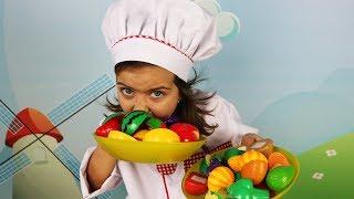 Готовим Вместе с Эмилюшей Фрукты и овощи  на липучках