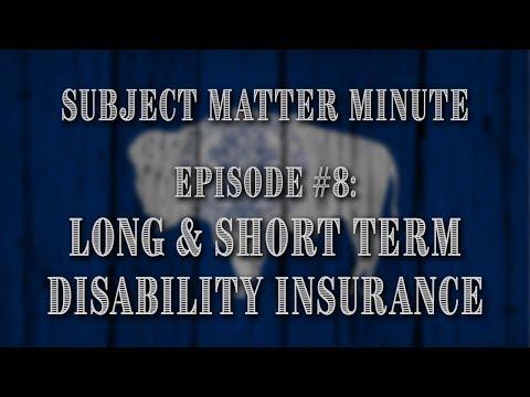 Episode #8 - Short & Long Term Disability Insurance