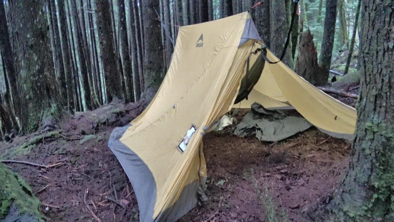 Hammock Hot Tent for Wood Stove Winter Snow C&ing Shakedown - YouTube & Hammock Hot Tent for Wood Stove Winter Snow Camping Shakedown ...