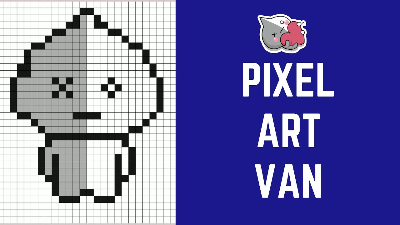 BTS 방탄소년단 How To Draw Pixel Art Van BT21 Character BTS ARMY #pixelart