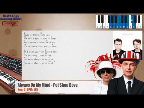 Always On My Mind - Pet Shop Boys Piano Backing Track with chords and lyrics
