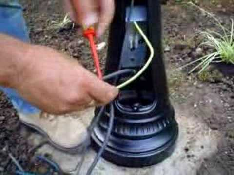 ace lamps video on wiring your lamp post youtube rh youtube com Outdoor Post Lamp Wiring -Diagram Lamp Post Wiring Support