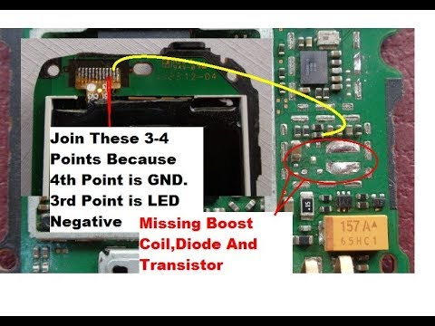 nokia c2 00 c1 01 display light solution without ic transistor rh youtube com