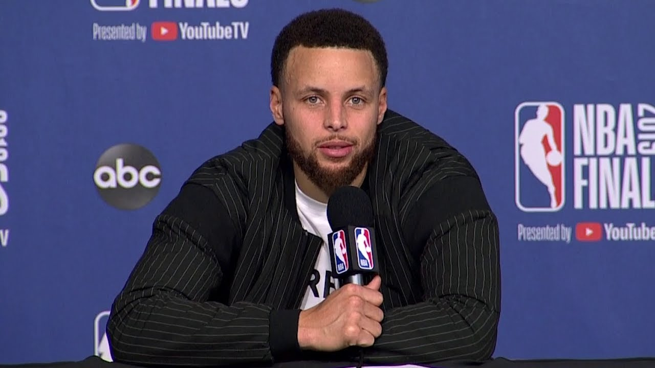 Stephen Curry Postgame Interview - Game 1 | Warriors vs Raptors | 2019 NBA Finals