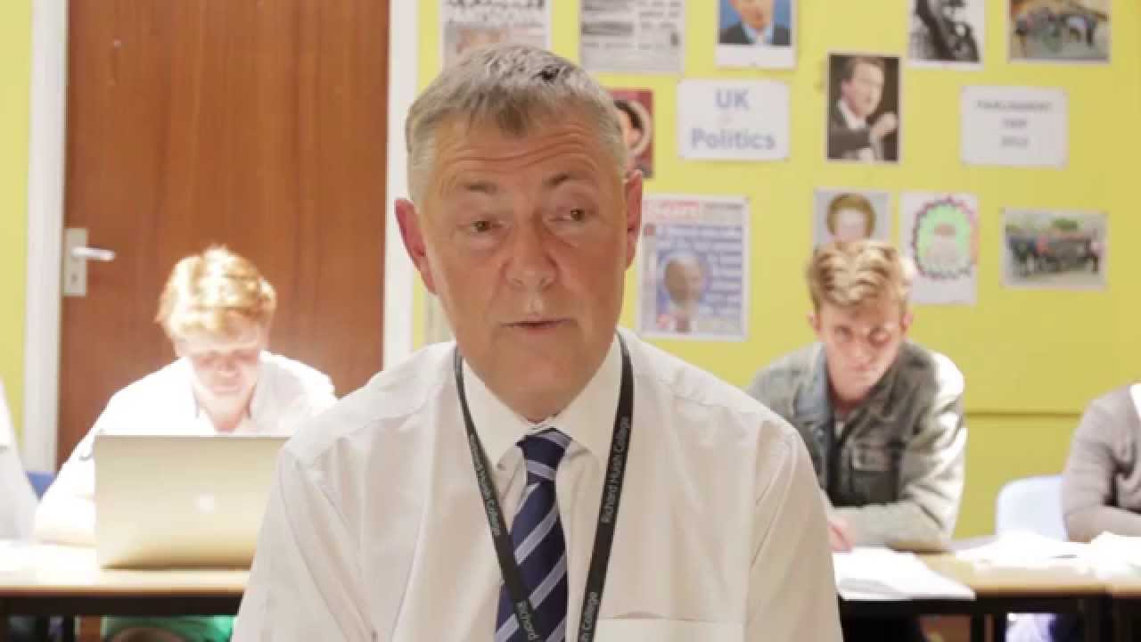 Teacher Bob Waterhouse on Government and Politics at Huish
