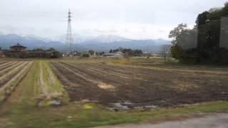 富山地方鉄道立山線稚子塚~寺田間 車内オルゴールを鳴らす