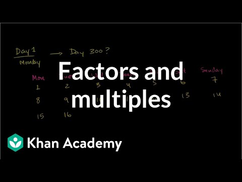 Using factors and multiples to figure out days of the week | Pre-Algebra | Khan Academy