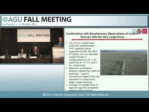 AGU 2012 Fall Meeting: An Unlikely New Tool for Spotting Clandestine Nuclear Tests Press Conference