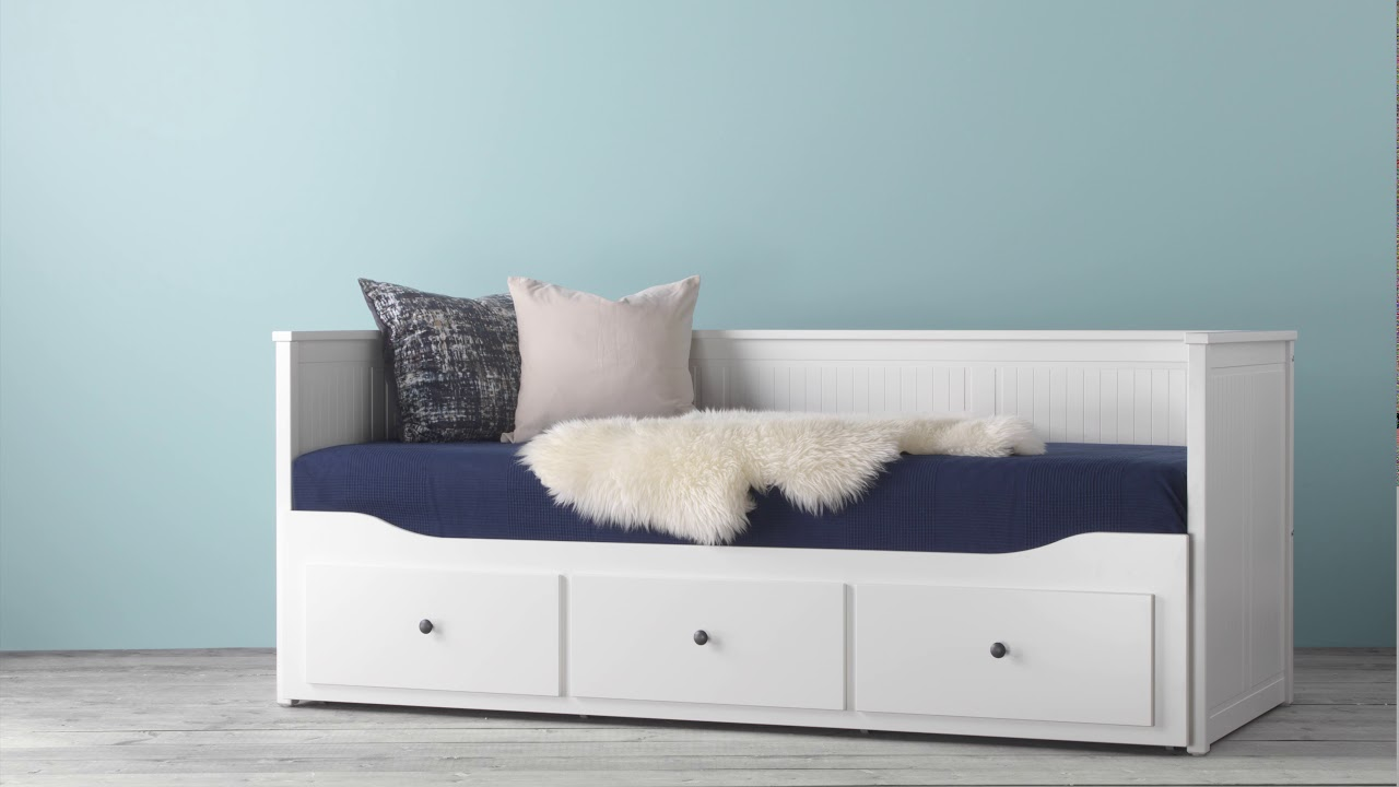 Ikea Hemnes Daybed With 3 Drawers 2 Mattresses Youtube