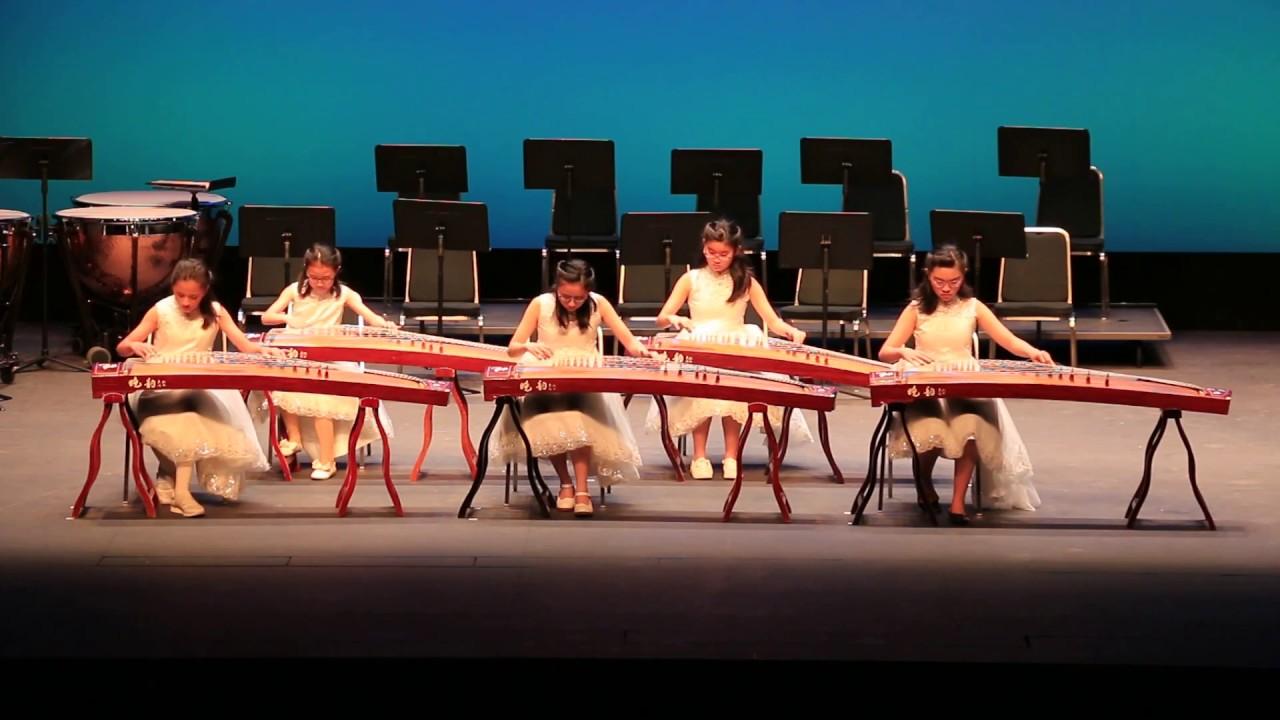 香港兒童古箏團豐收鑼鼓 - YouTube
