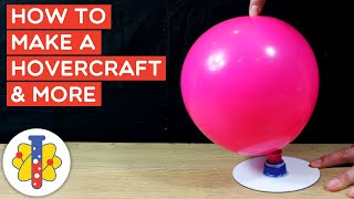 How to make a mini hovercraft at home | Simple Science Experiments | Lab 360