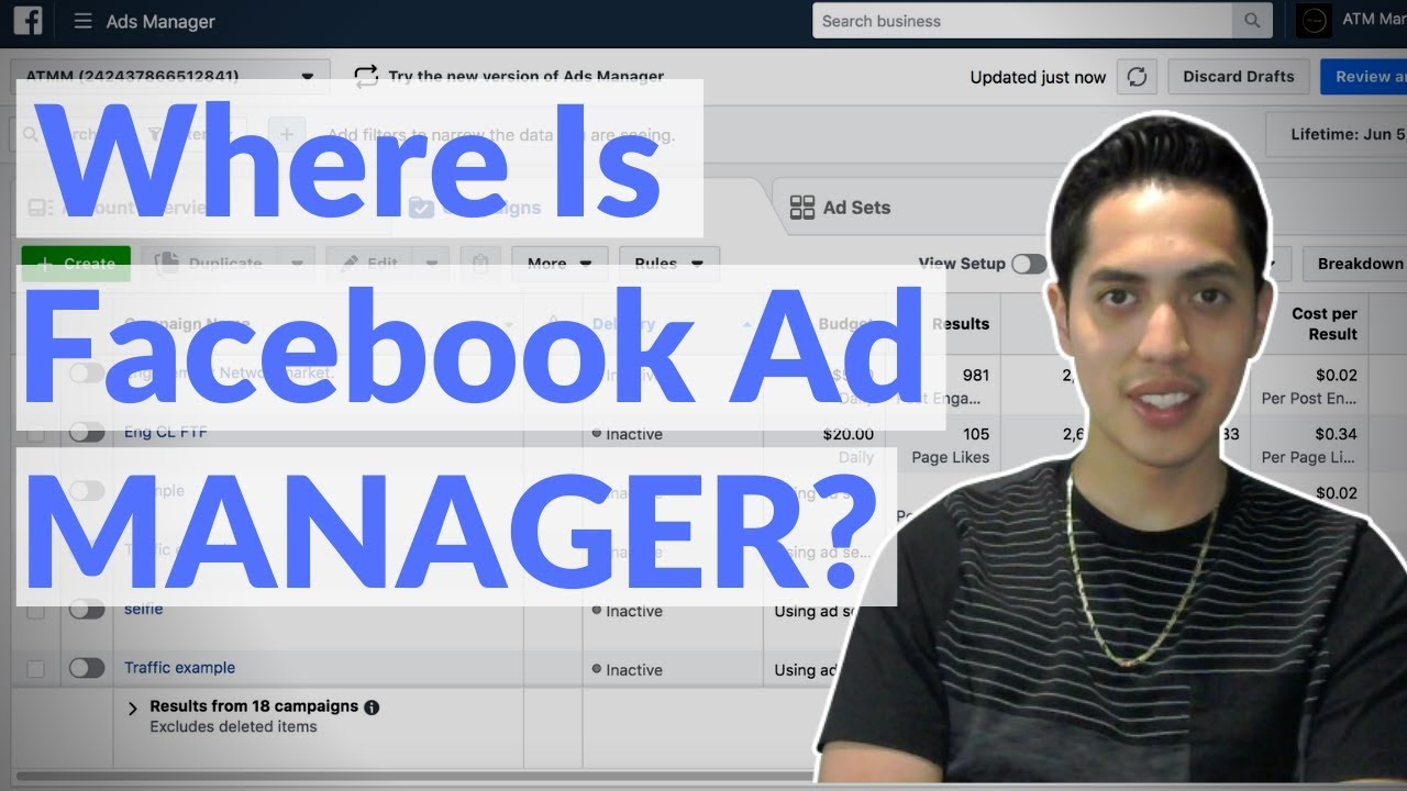 Where Is Facebook Ads Manager? | Back Office Tutorial 2020 Update