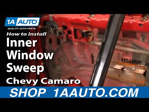 How To Install Remove Inner Window Sweep 82-92 Chevy Camaro IROC-Z and Pontiac Trans Am 1AAuto.com