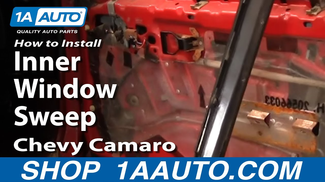 How To Install Remove Inner Window Sweep 82-92 Chevy ...