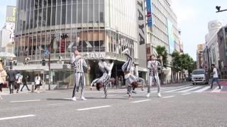 新宿にあるショーレストランKUJIRAENTERTAINMENTのダンサー達が渋谷でマ...