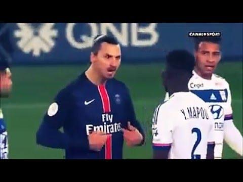 Funny zlatan ibrahimovic vs mapou ligue 1 psg vs ol