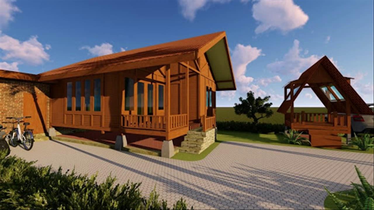 Desain Rumah Kayu Minimalis Modern 2020 - YouTube