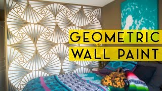 DIY Geometric Wall Paint