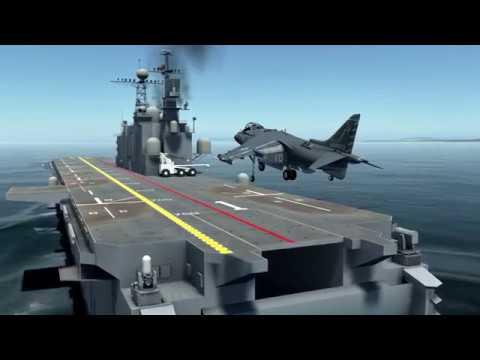 DCS Harrier: My First Vertical Landing Attempt