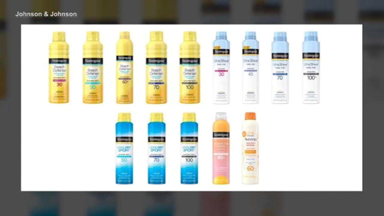 Johnson & Johnson recalls five Neutrogena, Aveeno sunscreen ...