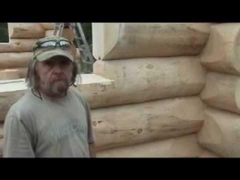 Les maisons de bois rond mahikan youtube for Maison en bois ronde