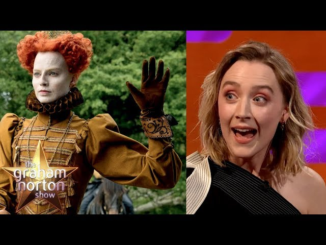 Saoirse Ronan & Margot Robbie Hid From Each Other On The Mary Queen of Scots Set