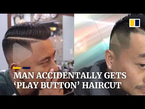 Jake Dill - Man Accidentally Gets 'Play Button' Haircut After Giving Barber Screenshot