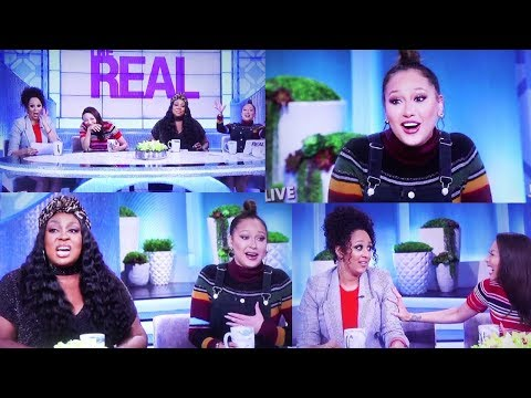 Adrienne Bailon THROWS SHADE at FERGIE National Anthem! The Real gets REAL SHADY!