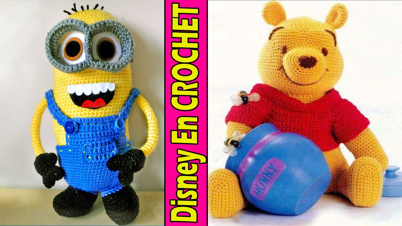 Personaje Disney - lindos Muñecos Tejidos a Crochet - YouTube